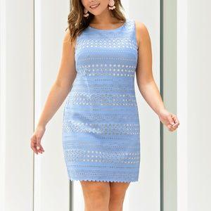 Laser Cut Sheath Dress